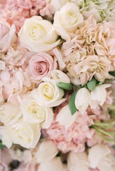 This color palette is perfect for any elegant wedding: http://www.stylemepretty.com/california-weddings/goleta/2017/01/12/ballroom-wedding/ Photography: Michael and Anna Costa - http://www.michaelandannacosta.com/