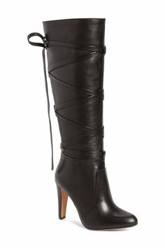 0688c1d27c2 New  168 Vince Camuto  Millay  Laced Knee High Boots 36 6 M  VinceCamuto