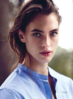 Le Fashion Blog //  27 Beauties With Bold Brows Eyebrow Inspiration Model Crista Cober Via Vogue Australia
