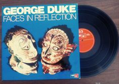 1974 vtg GEORGE DUKE rare record album / vintage jazz fusion / faces blue multicolor ethnic / music record collectible german vintage 70s