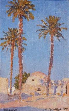 Zarzis, les palmiers von Alexandre Roubtzoff