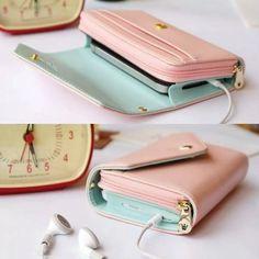 billetera portacelular mujer