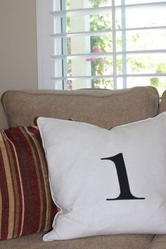 numbers pillows