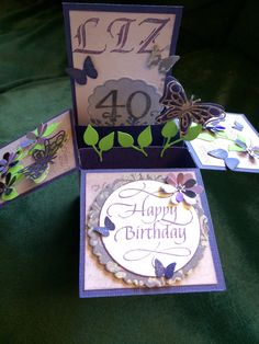 Card in a box with ECD dies and Quietfire stamps