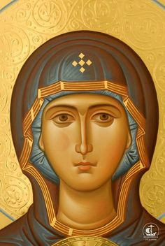 Byzantine Icons, Byzantine Art, Blessed Mother Mary, Blessed Virgin Mary, Religious Icons, Religious Art, Church Icon, Bible Images, Painting Studio