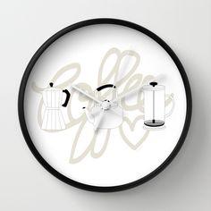 Reloj de pared Coffee Love de Polita  It's coffee time!  Shop here >>> http://society6.com/product/caf-0ru_wall-clock#33=284&34=285