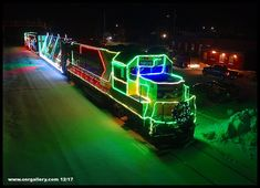 Another drone view of Ontario Northland's Christmas Train captured at Swastika December 8th.