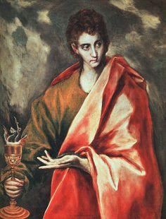 Saint John the Evangelist by  El Greco