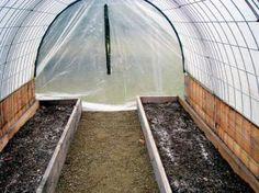 Hog panel greenhouse frame