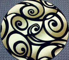 Round Area Rugs, Tribal Tattoos, Modern, Black, Design, Home Decor, Circular Rugs, Round Rugs, Trendy Tree