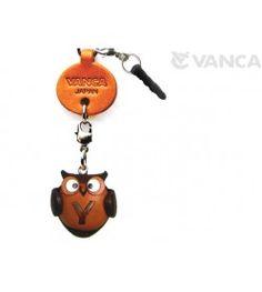 Alphabet Owl Y Leather Animal Earphone Jack Accessory