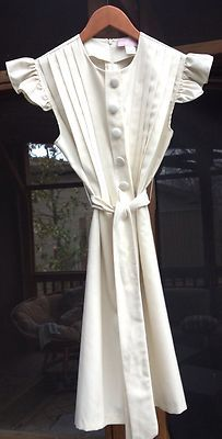 Timeless! Shumaq by Vanessa Barrantes Elegant Cream Off White Summer Dress $79.99 Classic Piece!! | eBay