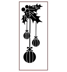Imagination Crafts Panel Stencil - Christmas Holly
