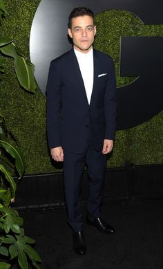 Rami Malek #suits up in Dior Homme - GQ's Men of the Year Party