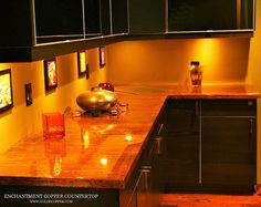Copper Counter Tops... I so want this in my kitchen!