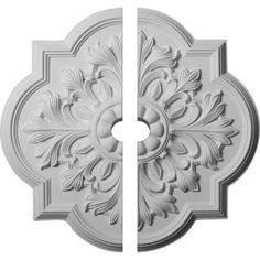 20 inchOD x 1 inchP Bonetti Ceiling Medallion (Fits Canopies up to 5 inch), Hand-Painted Flash Copper, Bronze Corner Moulding, Panel Moulding, Crown Molding, Ceiling Materials, Chair Rail Molding, Hand Carved, Hand Painted, Colored Ceiling, White Ceiling