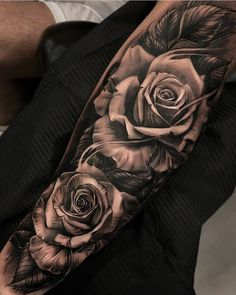 Rose Tattoo For Men Me Tattoos Rose Tattoos Sleeve Tattoos