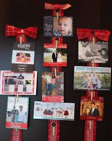 Carolina Charm: Christmas Card Display