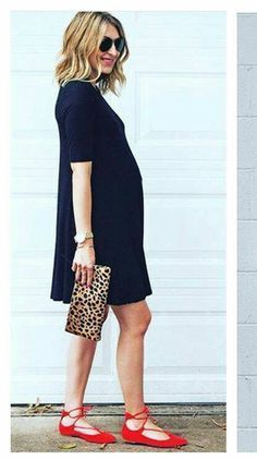 Such a stylish mama to be! I could autumn-out this look! Add tights and boots, maybe a little cardi and voilé!