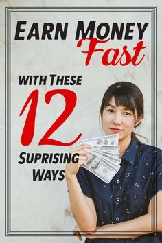 12 Surprisingly Easy Ways To Make Extra Money Fast - Blysee Ways To Save Money, Money Tips, Make Money Online, How To Make Money, Saving Tips, Saving Money, Investing Money, Make 100 A Day, Earn Money Fast