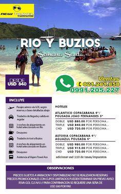 SEMANA SANTA RIO y BUZIOS vía AEREA