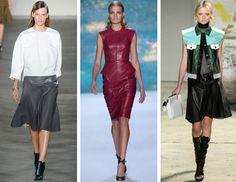 Spring 2013 Trends: Leather | Derek Lam, Monique Lhuillier, Proenza Schouler
