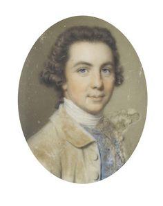 John Smart (British, 1742-1811) A Gentleman, wearing buff coat, blue waistcoat…
