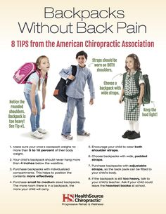 Backpacks without Back Pain - HealthSource of Highlands Ranch East Chiropractic back pain meme Chiropractic Benefits, Chiropractic Quotes, Chiropractic Office, Family Chiropractic, Chiropractic Wellness, Chiropractic Adjustment, Acupuncture, Popsugar, Boxing Workout