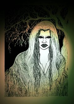 The Baobhan Sith, are a       strange breed of Scottish Vampiric entities. They most frequently manifest       as small groups of beguiling women, dressed in flowing green cloaks that       almost conceal the fact that their legs are of a form more befitting Deer.       They may also at times take the forms of Hooded Crows. Highland tales       relate how they may entrance men with their dancing before sinking their       fangs into them. The Baobhan Sith display a fear of cold iron.