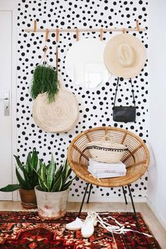 Home Decoration Ideas Dreams .Home Decoration Ideas Dreams Diy Home Decor Easy, Diy Wall Decor, Bedroom Decor, Urban Home Decor, Bedroom Fun, Bedroom Wall Designs, Decor Room, Easy Diy, Polka Dot Walls