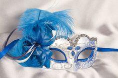 blue masks | Masquerade Masks - Venetian Masks for a Child - Small Face Masks
