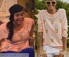 Liv & Maddie: Season 2 Episode 20 Willow's Ice Cream Cone Print Sweatshirt