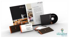 Pasta, apresentação, cartão de visita e CD, desenvolvido para Chiaro Design