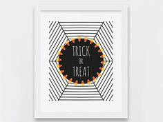 Printable Halloween Decor Trick or Treat Art by nomadprintables