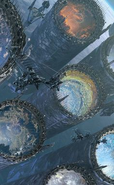 Kastelmor - The Only acces to the other dimensions (Pour la tome Fantasy City, Sci Fi Fantasy, Fantasy World, Dark Fantasy, Arte Sci Fi, Sci Fi Art, Futuristic City, Futuristic Architecture, Sci Fi Environment