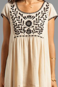 Free People Marina Embroidered Dress in Ivory   REVOLVE