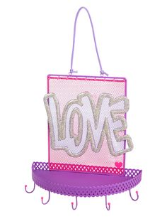 Hanging Love Jewelry Organizer | Organization | Room Accessories | Shop Justice