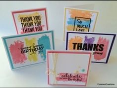 Five Greeting Cards Using Spellbinders Celebrations!