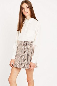 Urban Outfitters Spotted Jacquard A-Line Skirt A Line Skirts, Mini Skirts, Urban Outfitters, Short Dresses, Awesome Stuff, Shopping, Space, Fashion, Short Gowns