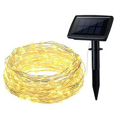OMorc Solar Powered String Light 150 LED 50ft Solar String Lights Outdoor Copper Wire Lights Ambiance Lighting for Gardens Homes Parties >>> Details can be found by clicking on the image.