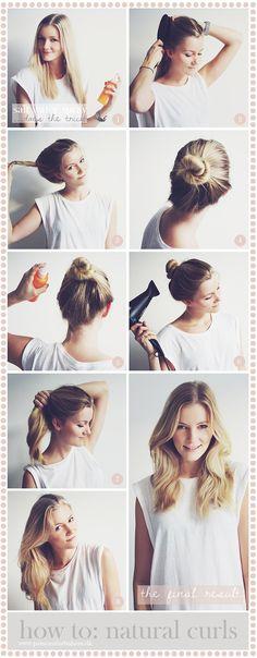 DIY: natural curls