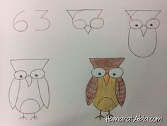 Step by step simple drawings using the alphabet and numbers Simple Pictures, Pictures To Draw, Animal Drawings, Art Drawings, Simple Drawings, Drawing Lessons For Kids, Drawing Ideas, Teaching Drawing, Person Drawing