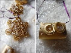 simple homemade Christmas ornament to make from plain pastawww.free-homemade-gift-ideas.com 4