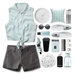 #ContestOnTheGo #ContestEntry by blonde-scorpio-xo on Polyvore featuring Abercrombie & Fitch, Kavu, Vans, ZeroUV, NARS Cosmetics, Aesop, Sephora Collection, Georg Jensen, Brinkhaus and Kelly Wearstler