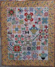 Ode to the 1930's...This I will make! combines a little applique with piecing