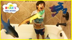 awesome GIANT GROWING CROCODILE TOYS FOR KIDS in bathtub! Toys experiment grow Shark and Frog