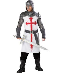 Crusader Deluxe Mens Costume | MEDIEVAL AND RENAISSANCE