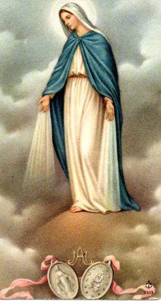 Santísima Virgen, yo creo y confieso vuestra santa e Inmaculada Concepción, pura y sin mancha.