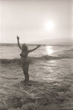 Marilyn Monroe at Santa Monica Beach, California, photographed by George Barris, June-July 1962.