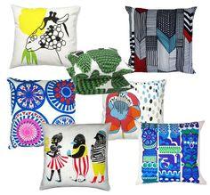 Marimekko Printed Cushions, Pin Cushions, Pillows, Mish Mash, Marimekko, Happy Colors, Apartment Living, Simple Designs, Finland